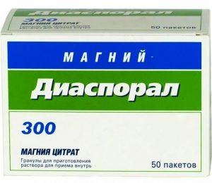 магний диаспорал 300 инструкция аптечная справка