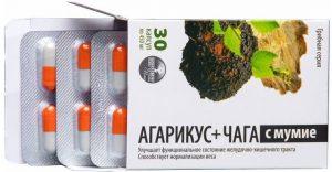 агарикус+чага с мумие